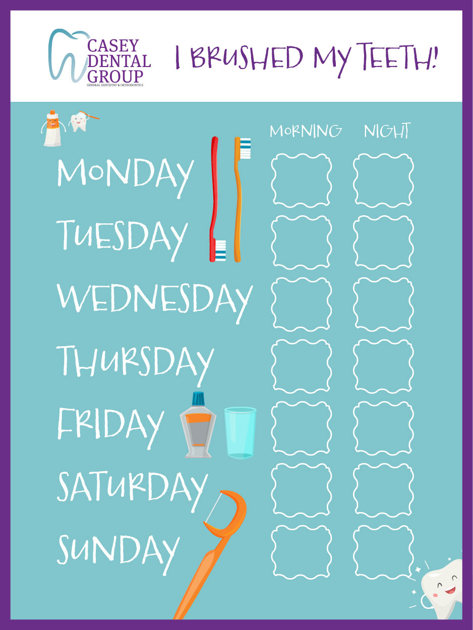 Get Kids Excited about Tooth Brushing with an Incentive Chart
